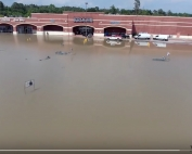 Flooding image of Kroger at 249 Tomball Parkway and Cypresswood - April 19, 2016.